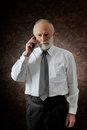 Manager in phone Stock Photos
