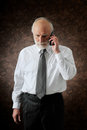 Manager in phone Stock Images