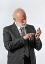 Manager in phone Stock Photography