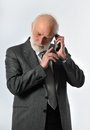 Manager in phone Royalty Free Stock Photo