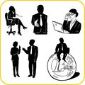 Managers and office vector set vinyl ready illustration Royalty Free Stock Images