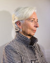 Managing director of the international monetary fund christine davos switzerland jan lagarde at world economic forum in davos Stock Image
