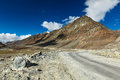 Manali leh road to ladakh in indian himalayas near baralacha la pass ladakh india Royalty Free Stock Images