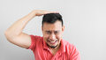 Manan feel regret asian man feels to you Royalty Free Stock Photo
