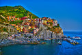Manarola beautiful italian city one of the most known in cinqueterre Royalty Free Stock Images