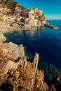 Manarola, Cinque Terre Italian Riviera Liguria, Italy famous italian travel destinations Royalty Free Stock Photo