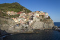 Manarola cinque terre italy in the region of Stock Images