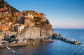 Manarola cinque terre small town in province la spezia liguria northern italy it is the second smallest of famous tourists Royalty Free Stock Photos