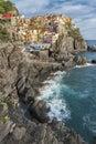Manarola liguria italy coastline of Stock Photography
