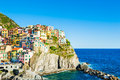 Manarola town in Cinque Terre national park, Italy Royalty Free Stock Photo