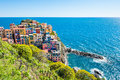Manarola town, Cinque Terre national park, Italy Royalty Free Stock Photo