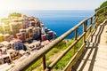 Manarola town view in Cinque Terre Royalty Free Stock Photo