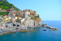 Manarola village in cinque terre Stock Photography