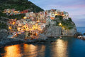 Manarola village italy in cinque terre Stock Images