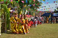 Manau traditional event of Kachin's tribe to worship God Royalty Free Stock Image