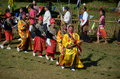 Manau traditional event of Kachin's tribe to worship God Stock Photo