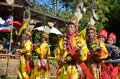 Manau traditional event of Kachin's tribe to worship God Royalty Free Stock Photos