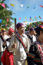 Manau traditional event of kachin s tribe to worship god and wish the king of thailand chiang mai december on december at Stock Images