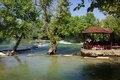 Manavgat waterfall in turkey summer day Royalty Free Stock Images