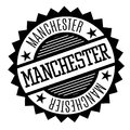 Manchester black and white badge