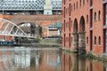 Manchester castlefield city in north west england uk district waterway canal area Stock Photo