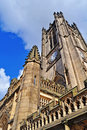 Manchester cathedral from below Royalty Free Stock Photo