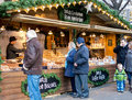 Manchester christmas markets england dutch cookies market stall at xmas uk Royalty Free Stock Photography