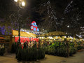Manchester christmas markets england xmas uk Royalty Free Stock Photo