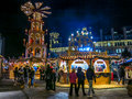 Manchester christmas markets england xmas uk Royalty Free Stock Photos