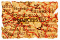 Manchester old map Stock Images