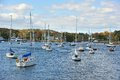 Manchester by the sea harbor in a town on cape ann in essex county massachusetts in united states Royalty Free Stock Photo
