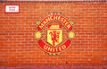 MANCHESTER, UK - FEBRUARY 17: Area of Home team bench in Old Trafford stadium on February 17, 2014 in Manchester, UK