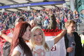 Manchester United girls Stock Images
