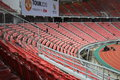 Manchester united thailand tour empty seat after match vs singha all stars at rajamangala national stadium on july Stock Image