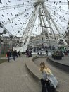 Manchester wheel with birds Royalty Free Stock Photos
