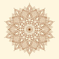 Mandala. Beautiful hand-drawn flower.