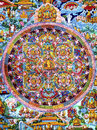 Mandala beautiful historic tibetian photo Royalty Free Stock Images