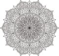 Mandala black and white. For coloring.