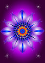 Mandala blooming flower symmetrically graphics forming colorful Stock Photos