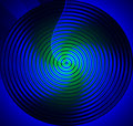 Mandala Blue Stock Image