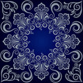 Mandala blue background Royalty Free Stock Photo