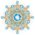 Mandala brooch jewelry, design element. Tribal ethnic floral pat
