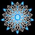 Mandala brooch jewelry, design element. Tribal ethnic floral