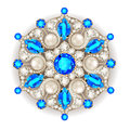 Mandala brooch jewelry, Geometric vintage ornam