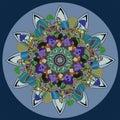 Sunflower Mandala Circle In Pa...