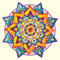 Mandala colorful bright vector illustrated Stock Photos