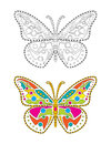 Mandala Colorful Butterfly Royalty Free Stock Photo