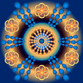 Mandala colorful rays of the sun colored geometric shapes forming a Royalty Free Stock Photos