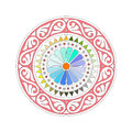 Mandala a colorful with white background Royalty Free Stock Images