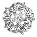 Mandala for coloring book pages. Vector ornament pattern for tattoo design Royalty Free Stock Photo